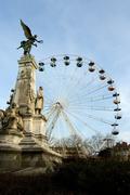 funfair in dijon city france - stock photo