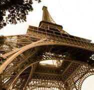 Vintage picture of Eiffel tower Stock Photos