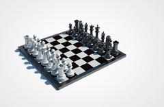 chessboard - stock photo