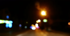 Traffic at Night 4k - stock footage