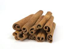 Cinnamon sticks isolated on white background Stock Photos