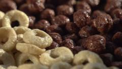 Cereal for Breakfast in the Morning Stock Footage