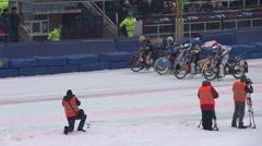 Racers Rush Forward Stock Footage