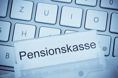 briefcase on the subject: pension fund - stock photo