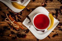 Stock Photo of Hibiscus tea