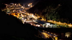 Night light ribes de freser high vie wpanorama 4k time lapse spain Stock Footage