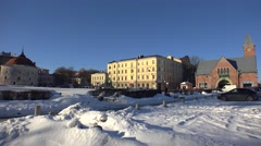 Vyborg. Market Square. Architecture. 4K. Stock Footage