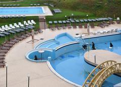 Spa resort swiming pool - stock photo