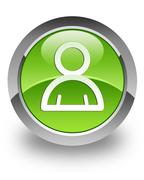Member glossy icon Stock Photos