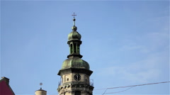 Chapel with clock Stock Footage