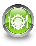 Food glossy icon - stock photo