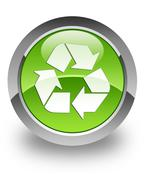 Recycle glossy icon Stock Photos