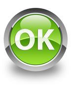 OK glossy icon - stock photo