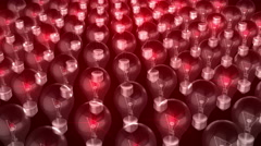 Bulbs Visuals Animation 3D Stock Footage