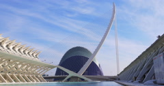 Valencia day light panorama city of art 4k spain Stock Footage