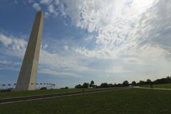 Washington Monument in the National Mall. Stock Photos