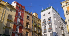 Valencia old town living block tops 4k spain 4k Stock Footage