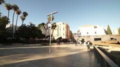 Big square at Teatro Romano attraction in Malaga - stock footage
