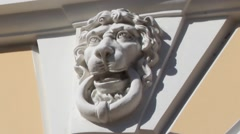 Lions guard sculpture Stock Footage