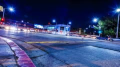 Los Angeles Time Lapse Night Stock Footage