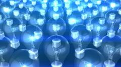 Bulbs 4K 3D Animation  Stock Footage