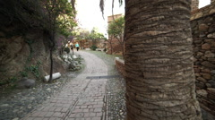 Alcazaba area in Malaga Stock Footage