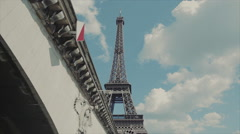 View of the Eiffel Tower. Underpass Stock Footage