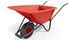 Wheelbarrow Studio Shot - stock illustration