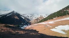 Winter day light vall de nuria mountain ski resort 4k time lapse spain Stock Footage