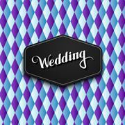 Stock Illustration of illustration of handwritten Wedding retro label