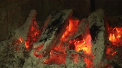 Close Up Fireplace Stock Footage