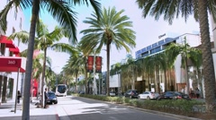 4K, UHD, Luxury stores on Rodeo Drive, Beverly Hills, Los Angeles, BlackMagic Stock Footage