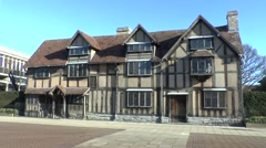 Shakespeare's Birthplace in Stratford Upon Avon, UK. - stock footage