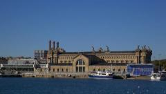 Sea Port Pier,  Barcelona Stock Footage
