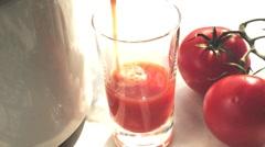 Tomato and sauerkraut juice Stock Footage