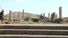 Akropolis antique city, Pergamon (Bergama) Turkey Stock Footage