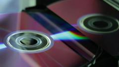 CD - DVD close up view Stock Footage