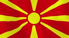 Loopable: Flag of Macedonia Stock Footage