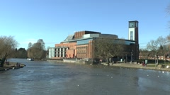 The Royal Shakespeare Theatre, Stratford-upon-Avon, Warwickshire, UK. - stock footage