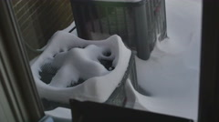 Lots of snow ac unit Stock Footage
