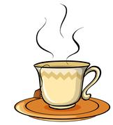Stock Illustration of Not my cup of tea idiom