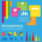 A colourful infochart - stock illustration