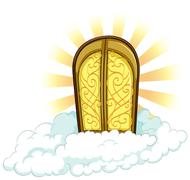 Knocking on heavens door - stock illustration