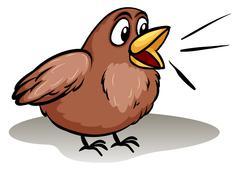 Stock Illustration of Talking like a little bird idiom