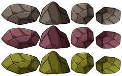 Group of rocks Stock Illustration