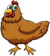 Stock Illustration of A spring chicken idiom