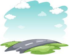 Hitting the road idiom Stock Illustration