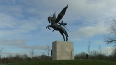 The Para's Memorial, National Memorial Arboretum, Alrewas, Staffordshire, UK Stock Footage