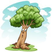 A big tree - stock illustration
