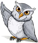 A wise owl idiom - stock illustration